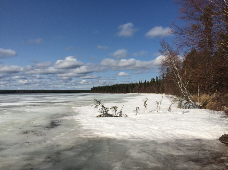 Frozen lake, Pine House, Saskatchewan